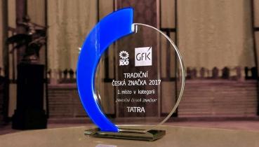 Kopřivnická společnost TATRA TRUCKS získala prestižní ocenění Tradiční česká značka 2017