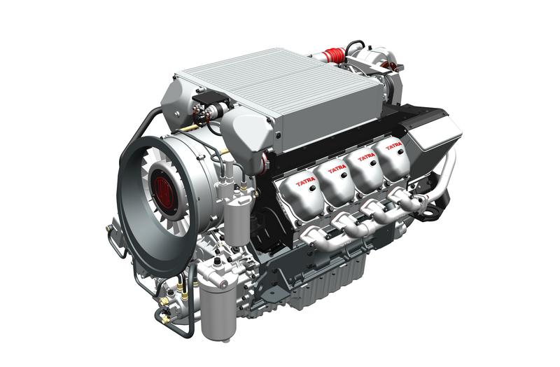 Jde o vzduchem přímo chlazený osmiválcový vznětový motor s