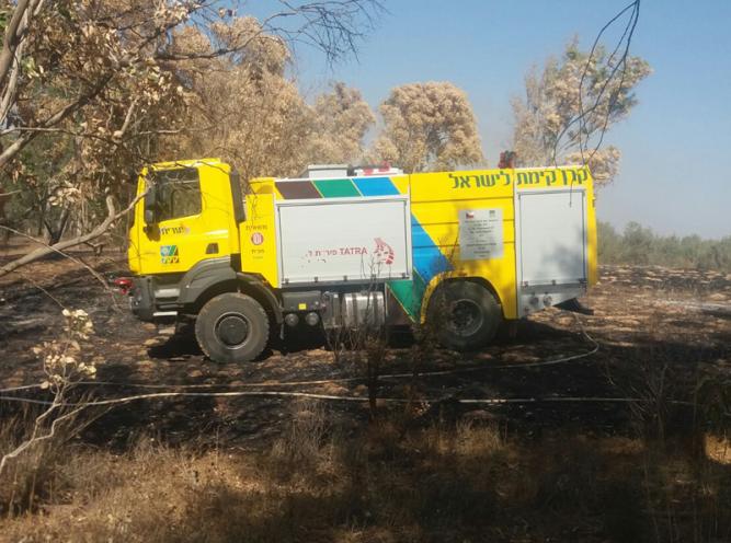 TATRA pomáhá při hašení požárů v Izraeli
