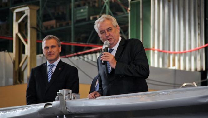 Společnost TATRA TRUCKS navštívil prezident Zeman