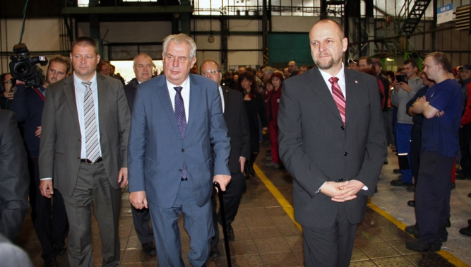 Prezident Miloš Zeman po roce opět navštívil Tatru