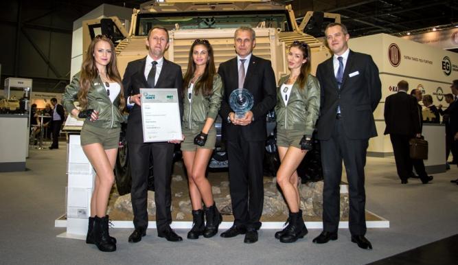 Obrněné vozidlo TITUS z produkce TATRA TRUCKS získalo ocenění Zlatý IDET